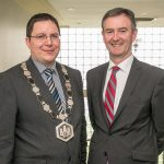 President of Kilkenny Chamber Martin Costello with CEO John Hurley pictured at the 2014 AGM which was held in The Newpark Hotel on the 17/04/14