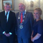 Bank of Ireland CEO, Richie Boucher with outgoing President Donie Butler and Honorary Treasurer Deirdre Shine (BOI)