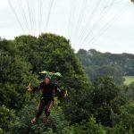 Conor Heelan, Irish Sky Diving Club) landing at Mount Juliet for Golf Challenge 2015