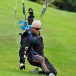 Vince O'Donnell (Irish Sky Diving Club) landing at Mount Juliet for Golf Challenge 2015