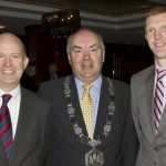Donie Butler, President, Kilkenny Chamber of Commerce, pictured with Dominick Chilcott CMG, British Ambassador to Ireland and Henry Shefflin (Bank of Ireland) at the Kilkenny Chamber of Commerce Presidents Luncheon in the Kilkenny Ormonde Hotel on 28/02/14.  (Photo: Eoin Hennessy)