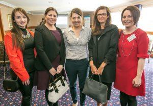 Laura Lanigan, Karen O'Sullivan, Niamh Norton, Jane Devlin and Tina Dowling at the Kilkenny Chamber AGM. Photo: Pat Moore.