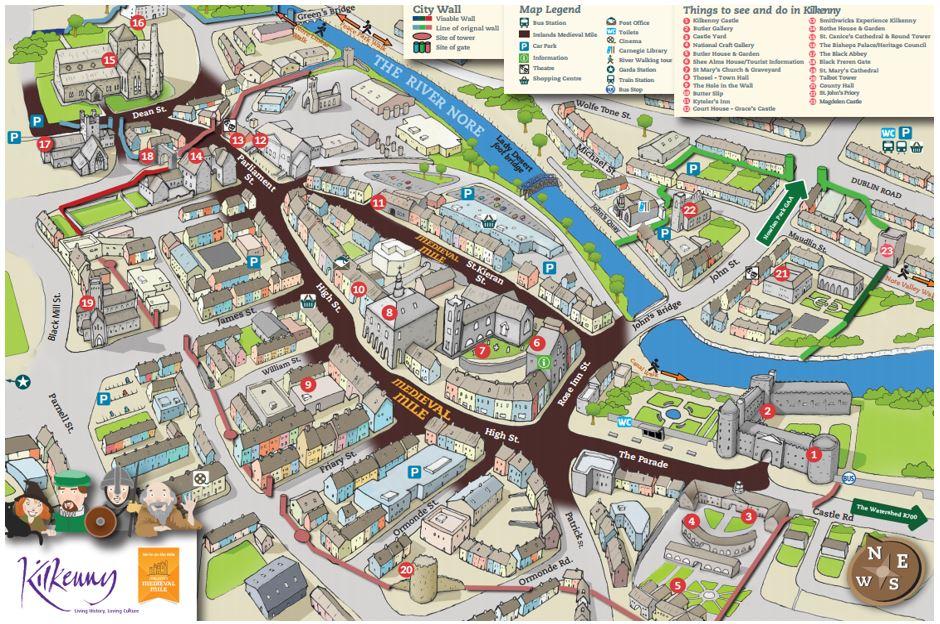 Medieval Mile Map