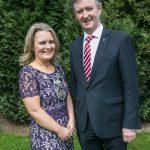 Deirdre Shine, President and John Hurley CEO at the Kilkenny Chamber AGM. Photo: Pat Moore.