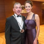 Cathaoirleach Matt Doran and Therese Hearn at the Kilkenny Chamber Business Awards. Photo: Pat Moore.