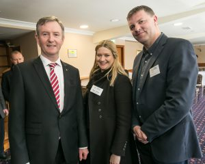 John Hurley, Mary Tallent and John Purcell at the Kilkenny Chamber AGM. Photo: Pat Moore.