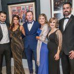 Ciaran Seone, Louise Scully, Patrick Murphy, Paula Needham, Grainne and Padraig Haughey at the Kilkenny Chamber Business Awards. Photo: Pat Moore.