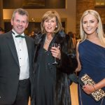 Brian Kelly with Jennifer and Emma McCreery at the Kilkenny Chamber Business Awards. Photo: Pat Moore.