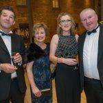 Ger Kirwan, Josaphine Eviston, Mags Kirwan and Dermot Drennan at the Kilkenny Chamber Business Awards. Photo: Pat Moore.