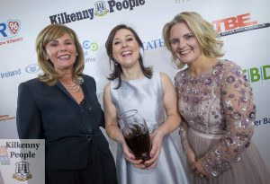 Craft Producer of the Year Brid Lyons (center) with Jennifer McCreery sponsor and Deirdre Shine, Kilkenny Chamber at the Kilkenny Chamber Business Awards. Photo: Pat Moore.