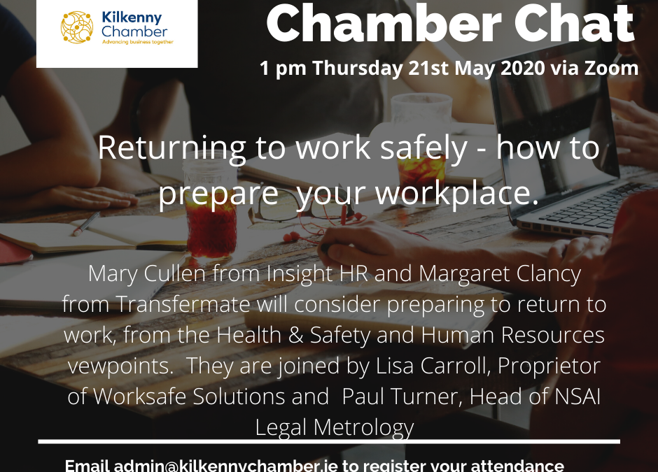 Chamber Chat:  Returning to Work Safely