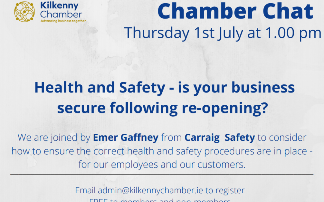 Chamber Chat – Health & Safety with Emer Gaffney from Carraig Safety